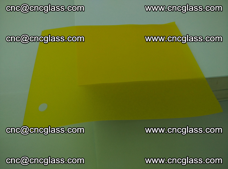 Eva glass laminating interlayer foil film Transparent clear color (lemon yellow membrane) (10)