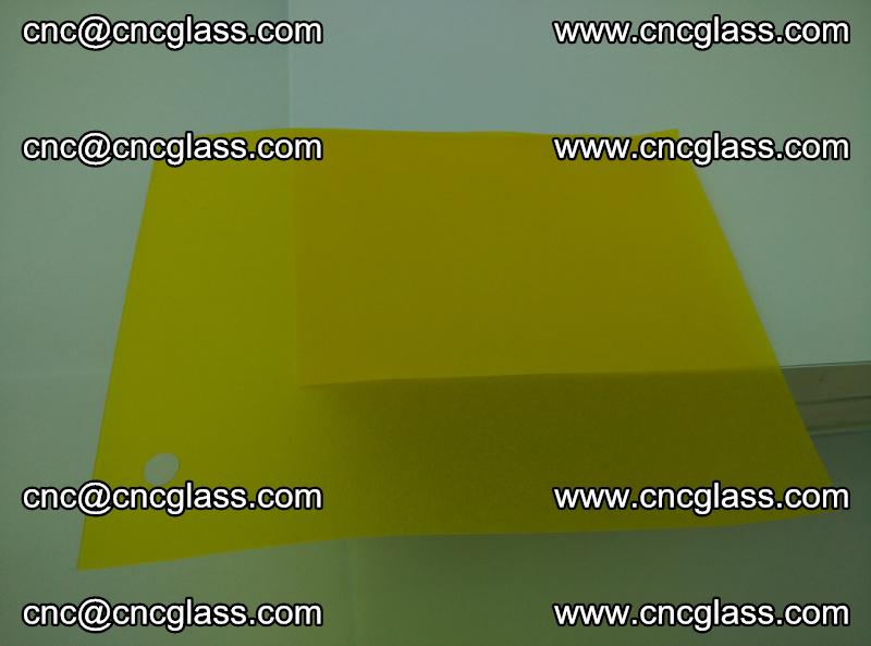 Eva glass laminating interlayer foil film Transparent clear color (lemon yellow membrane) (5)