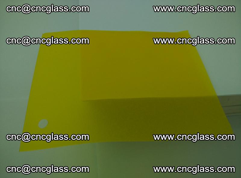 Eva glass laminating interlayer foil film Transparent clear color (lemon yellow membrane) (6)