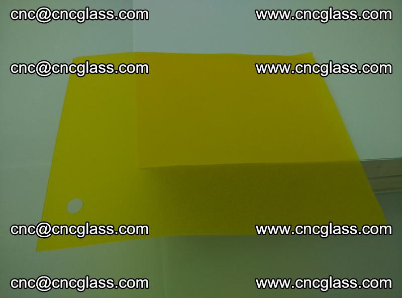 Eva glass laminating interlayer foil film Transparent clear color (lemon yellow membrane) (7)