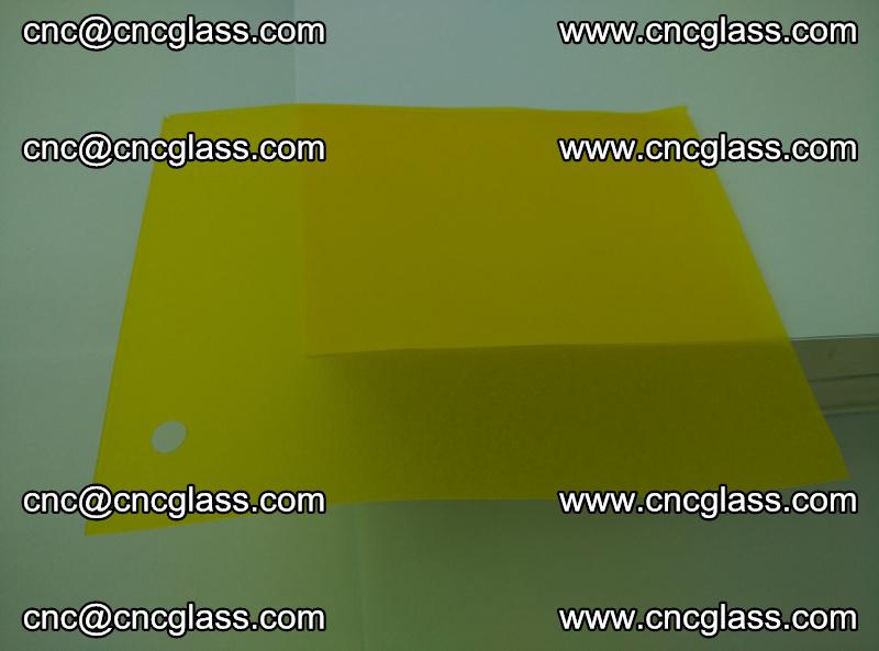 Eva glass laminating interlayer foil film Transparent clear color (lemon yellow membrane) (8)