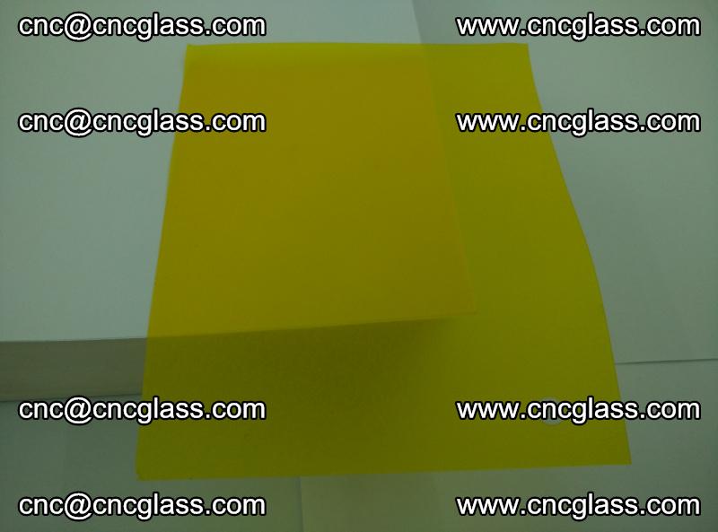 Eva glass laminating interlayer foil film Transparent clear color (yellow lemon) (1)