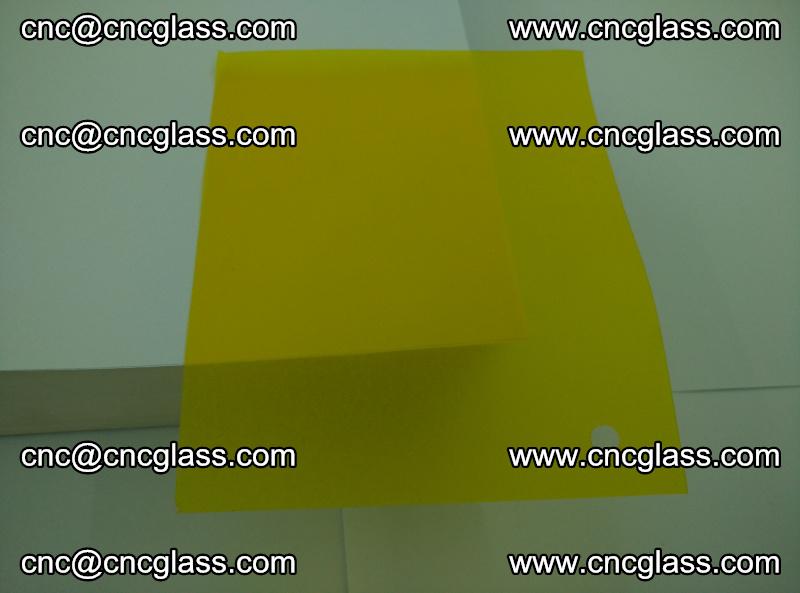 Eva glass laminating interlayer foil film Transparent clear color (yellow lemon) (15)