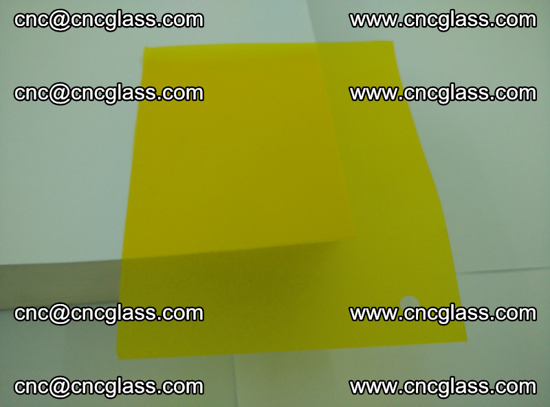 Eva glass laminating interlayer foil film Transparent clear color (yellow lemon) (3)