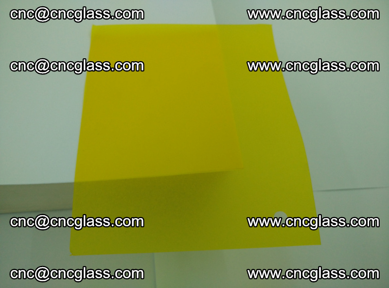 Eva glass laminating interlayer foil film Transparent clear color (yellow lemon) (8)
