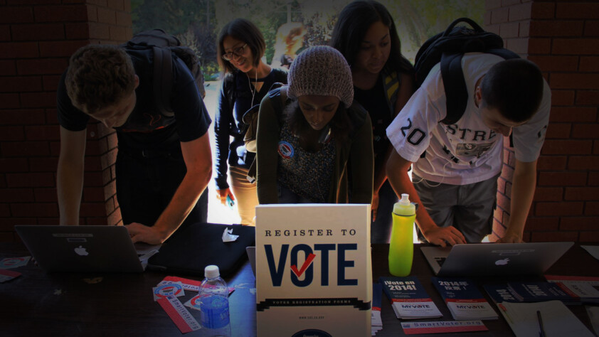 Students Assisting With Voter Registration