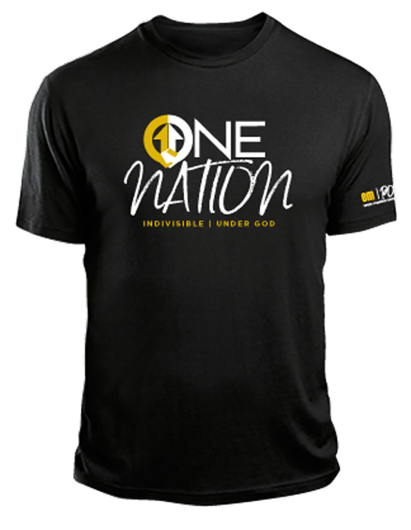 One Nation Black T-shirt