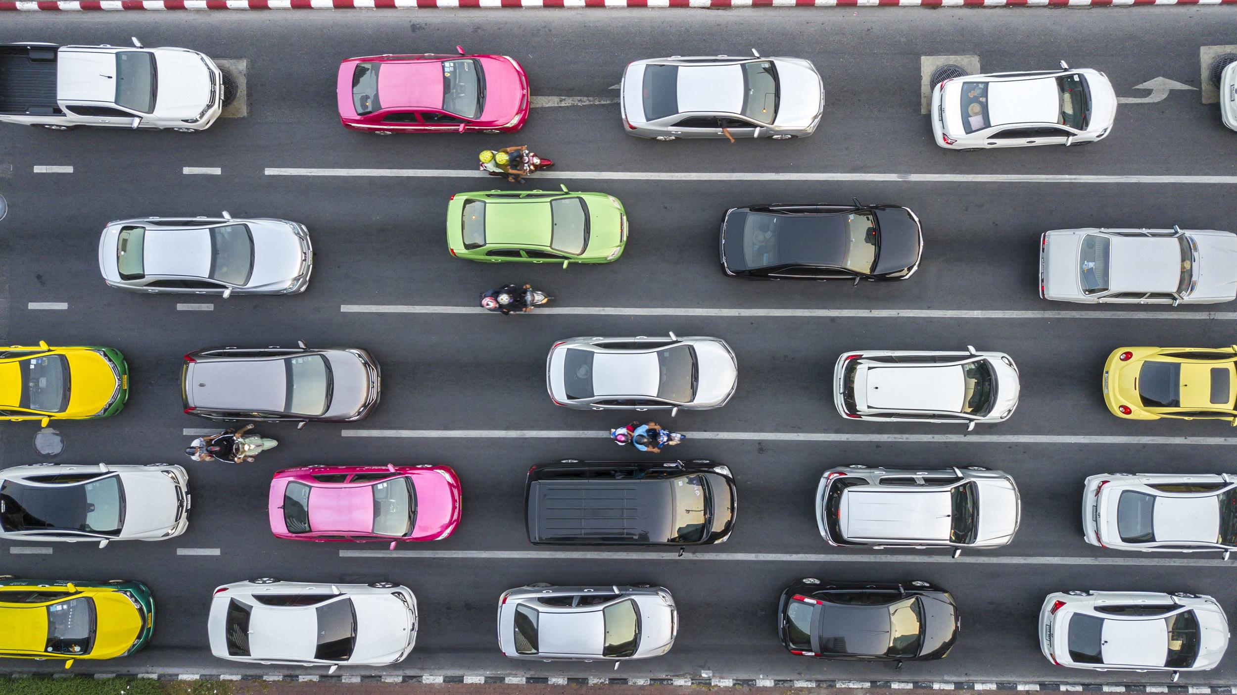 traffic jam, cars, traffic congestion