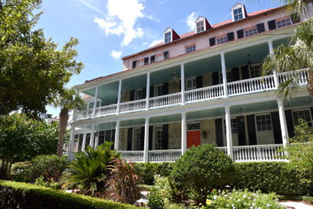 Typical southern home architecture in Charleston, South Carolina
