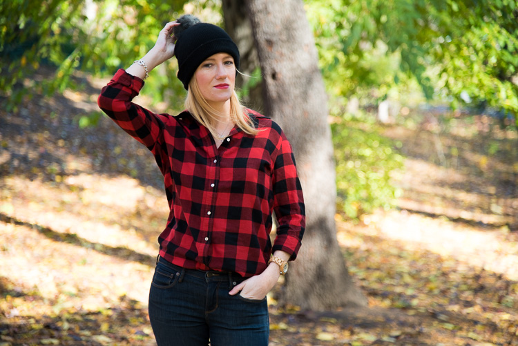 NYC Fashion blogger Plaid Fall outfit look street style