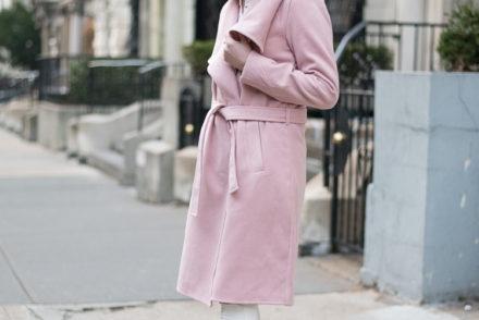 NYC Fashion blogger Pink Coat styling