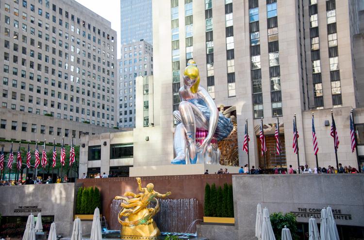 Jeff Koons Ballerina NYC Blog voyage New York