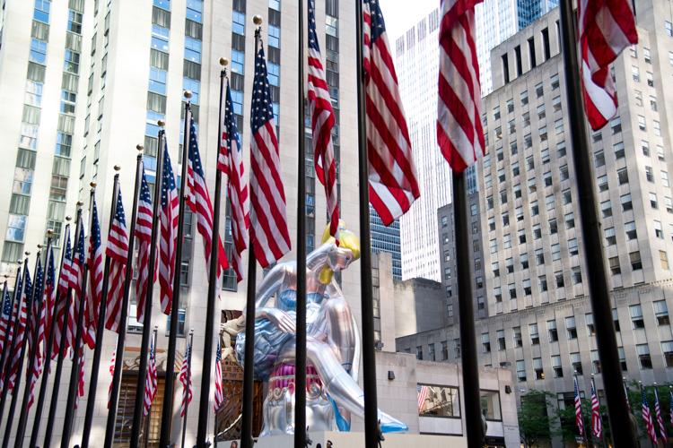 Rockfeller Center Art Jeff Koons Ballerina NYC