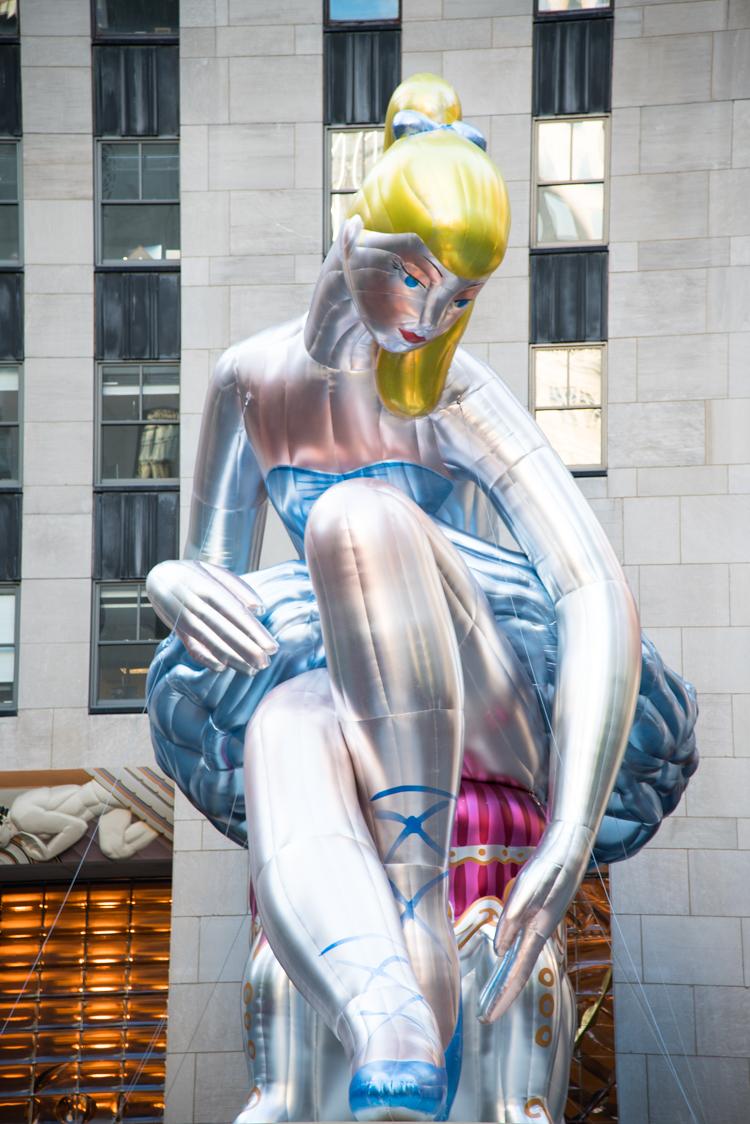 Blog voyage new york Jeff Koons Ballerina NYC