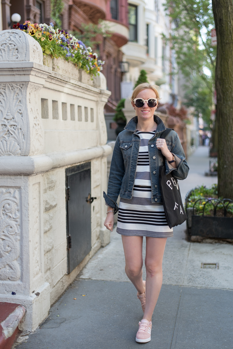 Tobi Stripe Dress Fashion blogger collaboration
