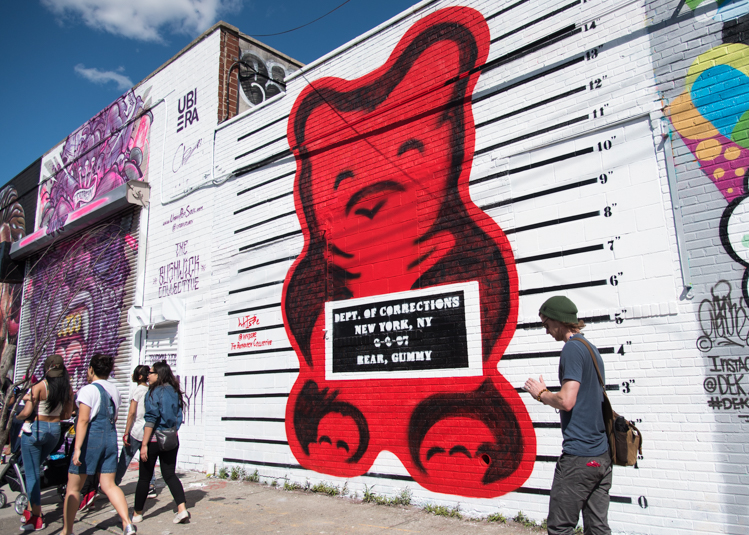 Où voir le street art à New York. Brooklyn Bushwick