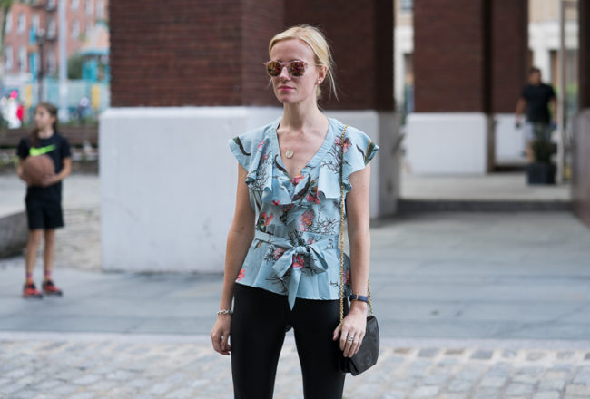 Asos wrapped floral top Fashion blogger NYC