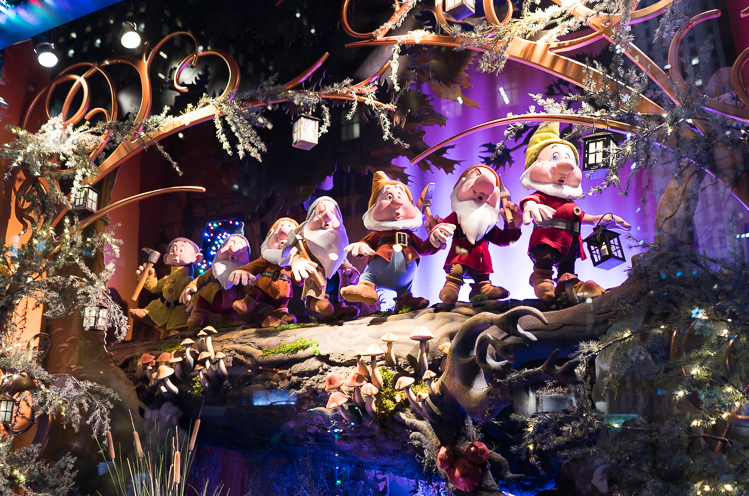 les vitrines de Noel à New York