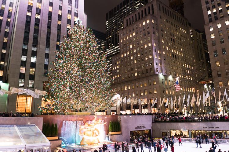 Sapin du Rockefeller Center à New York