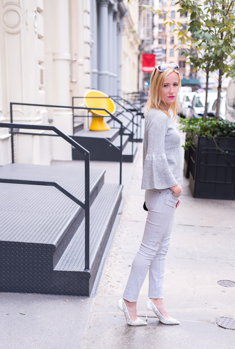 Grey outfit inspiration fashion blogger new york