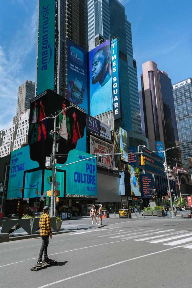 naked cowboy de Times Square à New York