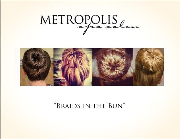 braids in the bun