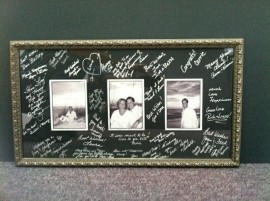 wedding memories framed by Kris The Framer