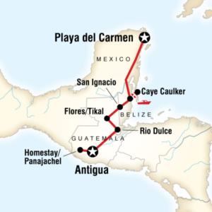 Group Tour map