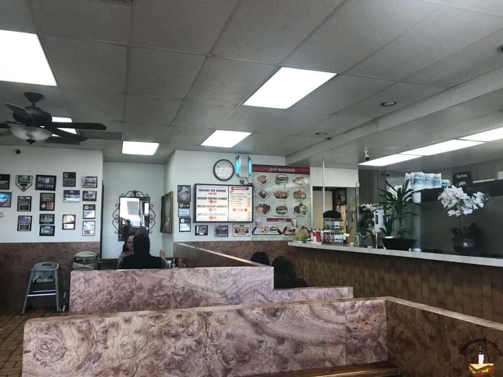 The interior of Apollo Burgers