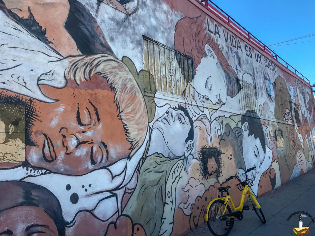One of the many beautiful murals in Barrio Logan