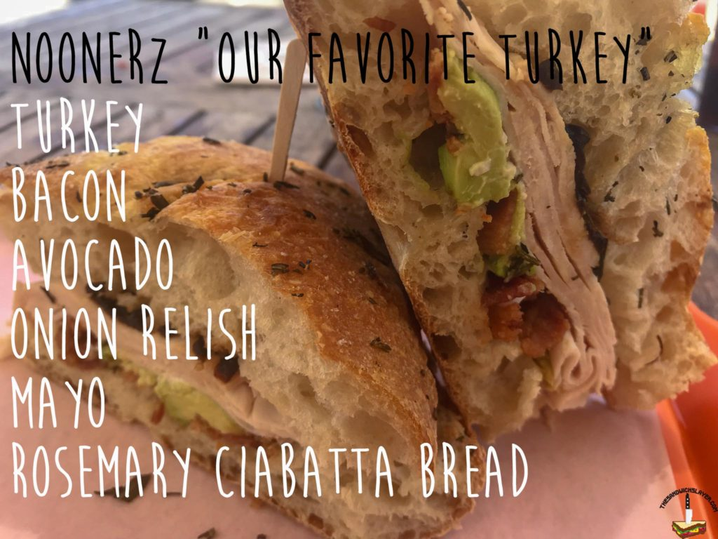 "Noonerz ""Our favorite turkey"" sandwich ingredients"