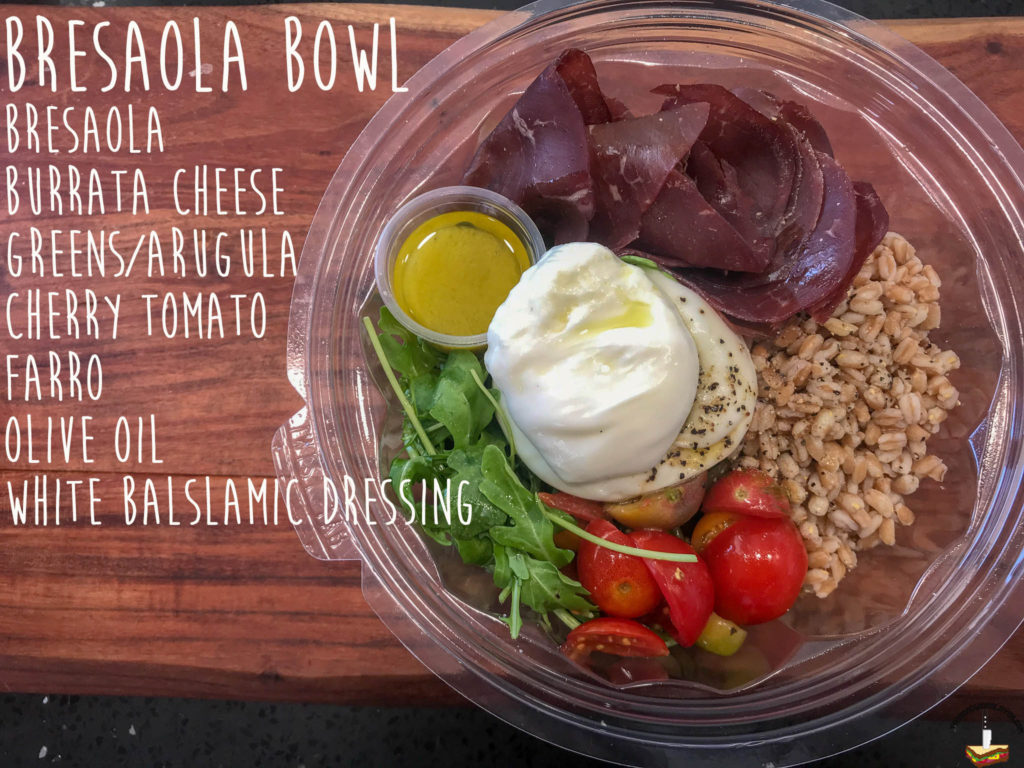 Burrata House Bresaola bowl ingredients