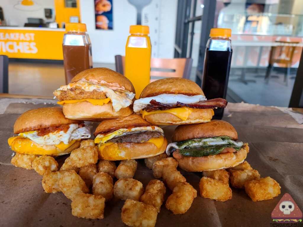OC sandwiches egg sandwich stacked sandwiches tater tots Breakfast