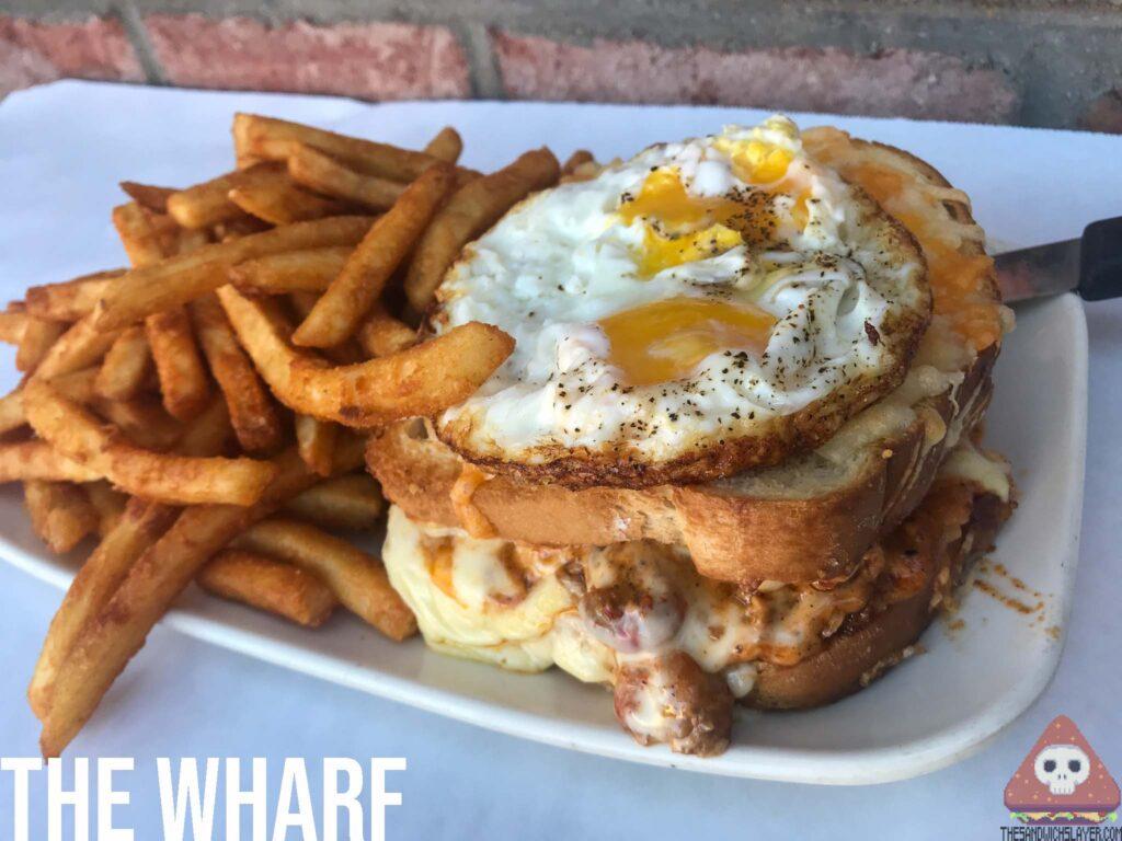 Crawfish Croque Madame  sandwich