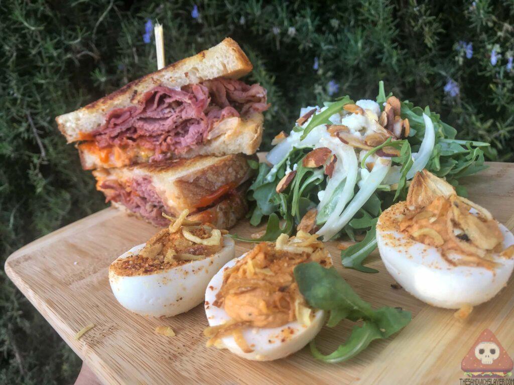 Rueben sandwich deviled eggs