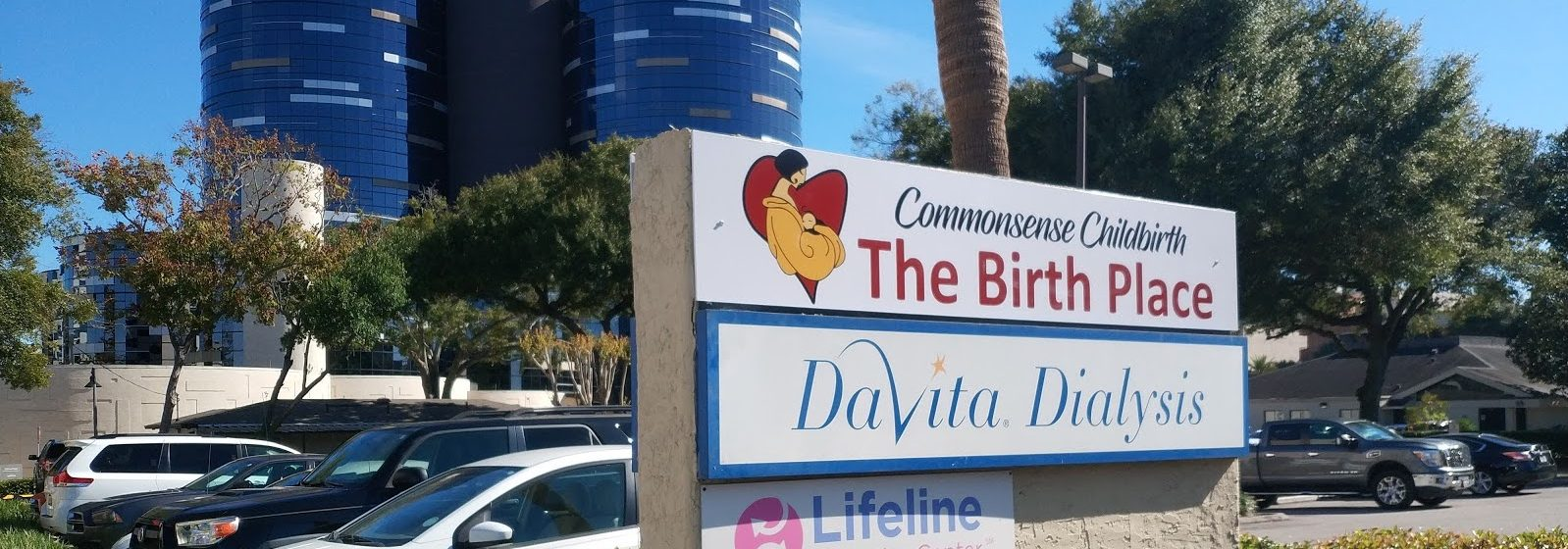 Picture of the The Birth Place sign outside building