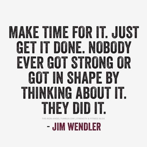 Fitness Motivational Quotes Nobody Ever Got Strong Or Got In Shape By Just Thinking About It. They Did It