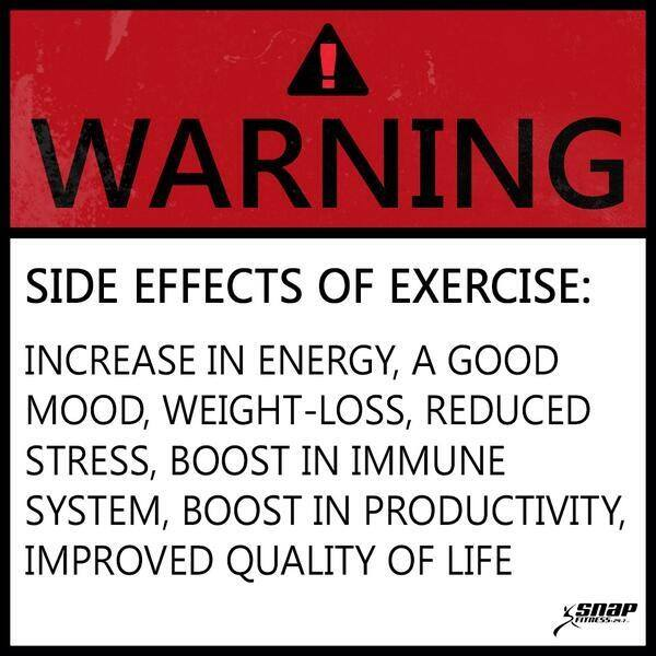 Fitness Motivational Quotes Side Effects Of Exercise