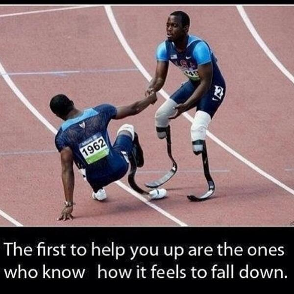 Fitness Motivational Quotes The First To Help You Up Are The Ones Who Know How It Feels To Fall Down