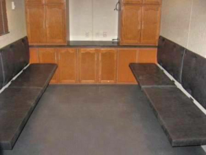 MOBILE COMMAND TRAILERS BENCH SEAT DOWN