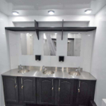 semi shower trailer vanity