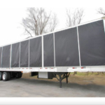 semi trailer conversion with awning cover