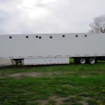 semi trailer showers exterior