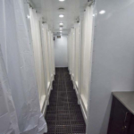 semi trailers shower hallway
