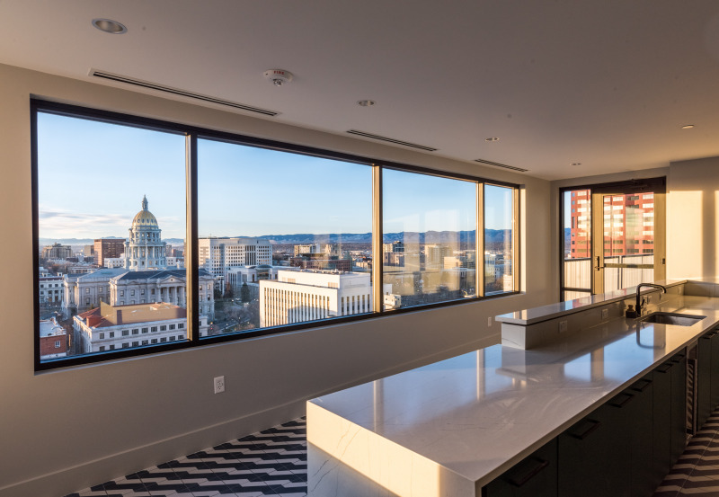 Kitchen with a view at Capitol Center Building