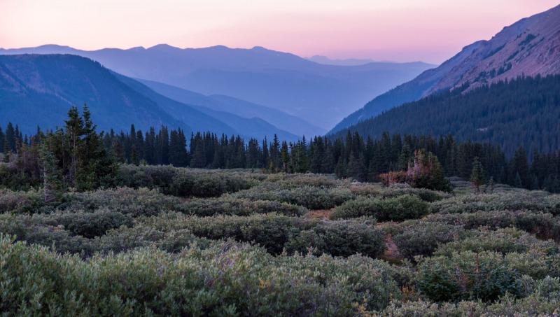 Colorado - sunset at Mt. Bierstadt