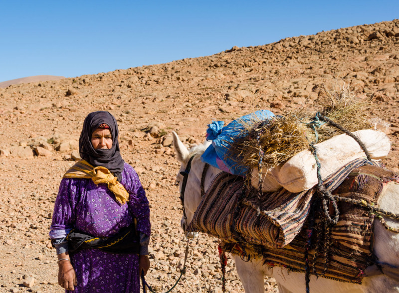 Morocco - Berber woman - Todra Gorge