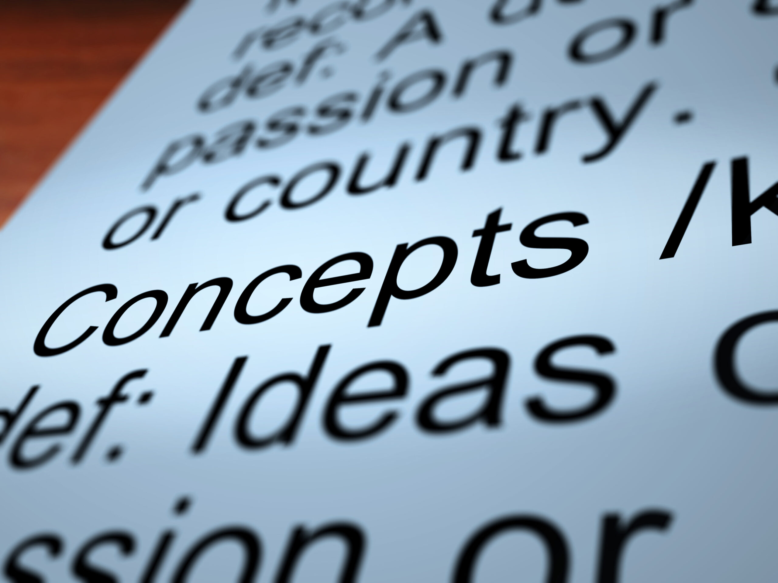 Concept Definition Closeup Shows Ideas Thoughts Or Invention