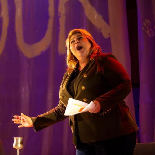 Michelle Trainor singing Mrs Peachum