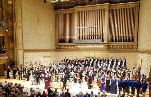 Curtain Call, Carnegie HallMahler's Eighth SymphonyUna Poenitentium, Soprano II Soloist